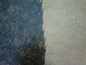 Power washing can restore concrete to  its original color and state.