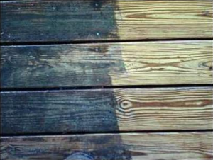 Most older decks can be brought back  to life by power washing.
