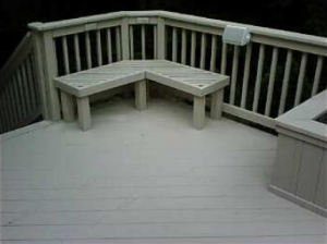 BEARCLAW power washed the deck  and stained the wood.
