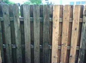Fences can be brought back to life by  power washing.