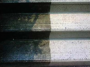 BEARCLAW's experienced power  washing can restore your stairs and  patios.