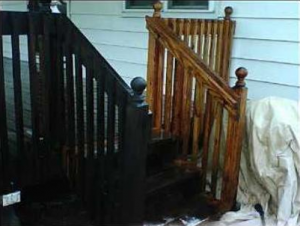 Power washing can restore a deck to  its original color and state.