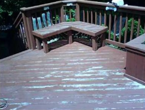 Here is an example of a badly damaged  deck.